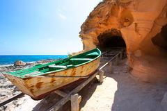 Formentera Cala en Baster in Balearic Islands of Spain Royalty Free Stock Photography