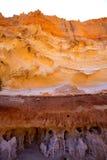 Formentera Cala en Baster sandstone textures Stock Photo