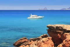 Formentera Cala Saona mediterranean best beaches Stock Photos