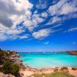 Formentera Cala Saona plażowe Balearic wyspy Obraz Stock