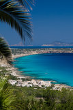 Formentera Coast and Beaches. One of the most beautifull shores in the Mediterranean, the coastline of the Spanish isle of Formentera, In the background you can royalty free stock photos