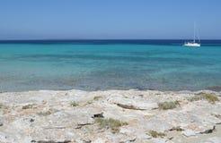 Formentera dichtbij eivissa stock foto