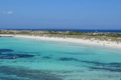 Formentera dichtbij eivissa royalty-vrije stock afbeelding