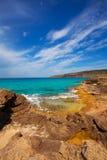 Formentera Es Calo de Sant Agusti turauoise sea Stock Image