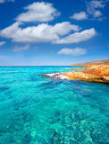 Formentera Es Calo de Sant Agusti turauoise sea Royalty Free Stock Photos
