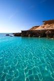 Formentera Es Calo des Mort beach turquoise Mediterranean Royalty Free Stock Photos