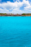 Formentera Es Calo San Agusti houses sea view Royalty Free Stock Photos