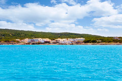 Formentera Es Calo San Agusti houses sea view Stock Images