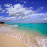 Formentera es Mitjorn beach turquoise Royalty Free Stock Photography
