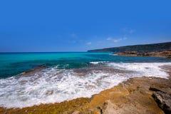 Formentera Escalo De San Agustin plaża Zdjęcia Stock