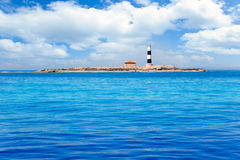 Formentera Freus faro en Pou lighthouse Porcs Stock Photo