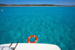 Formentera Illetes Illetas with round buoy Royalty Free Stock Image