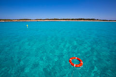 Formentera Illetes Illetas with round buoy Royalty Free Stock Photo
