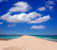Formentera Illetes Illetas tropical beach near Ibiza Royalty Free Stock Image