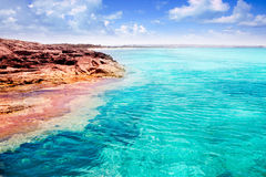 Formentera Illetes island turquoise tropical sea Royalty Free Stock Image