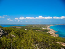 Formentera infinity. Overview of the Island of Formentera Royalty Free Stock Images