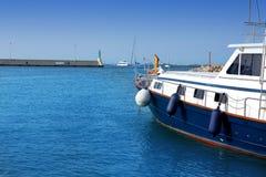 Formentera island marina La Savina in Balearic Royalty Free Stock Image