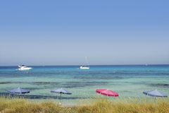 Formentera island near Ibiza in Mediterranean Royalty Free Stock Photography