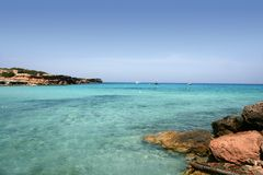Formentera island near Ibiza in Mediterranean Stock Photography