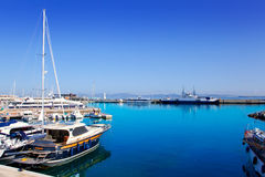 Formentera island port with boats in La Savina Stock Images