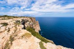 Formentera-Küstenlinie Lizenzfreie Stockbilder