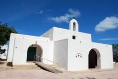 Formentera kerk Royalty-vrije Stock Afbeelding