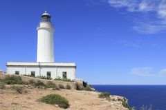 Formentera La Mola lighthouse balearic islands Royalty Free Stock Photography