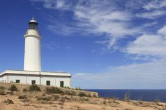 Formentera La Mota lighthouse balearic islands Royalty Free Stock Images