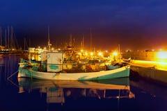 Formentera La savina port marina fisher boats Stock Image