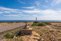 Formentera LaMola fyr Royaltyfri Fotografi