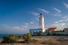 Formentera lighthouse Stock Photography