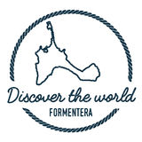 Formentera Map Outline. Vintage Discover the. Formentera Map Outline. Vintage Discover the World Rubber Stamp with Island Map. Hipster Style Nautical Insignia vector illustration