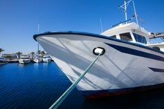 Formentera marina trawler fishing boats Stock Image