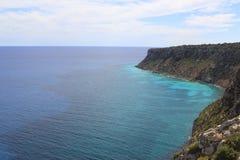 Formentera mediterranean sea from La Mota Royalty Free Stock Photography