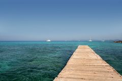 Formentera Mediterranean seascape turquoise sea Royalty Free Stock Photos
