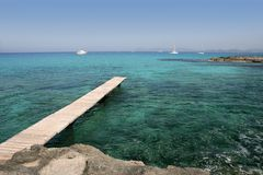 Formentera Mediterranean seascape turquoise sea Royalty Free Stock Photo