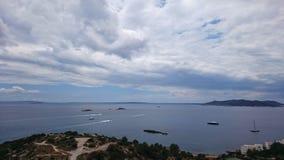 Formentera na horyzoncie Fotografia Royalty Free
