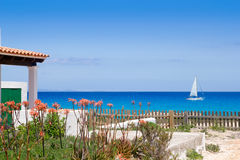 Formentera north escalo es calo aqua Mediterranean Royalty Free Stock Images