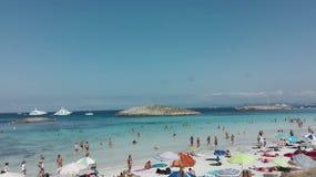 Formentera paradijsstrand Royalty-vrije Stock Fotografie
