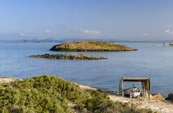 Formentera, plage d'Illestes Photographie stock libre de droits