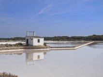 Formentera Salt Mine Stock Photography