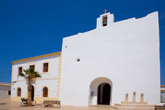 Formentera Sant Francesc San Francisco Javier church Royalty Free Stock Photos