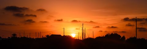 Formentera-Sonnenuntergang Stockbilder