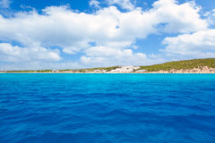 Formentera south Els Arenals Platja de Migjorn Royalty Free Stock Photography
