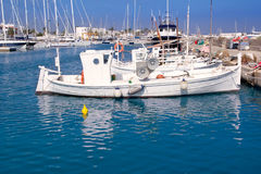 Formentera traditional llaut fisherboats Royalty Free Stock Image