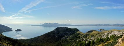 Formentor Beach & Alcudia Coast Stock Images