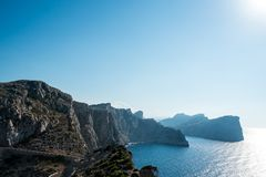 Formentor Cape in Mallorca island. Majorca mirador Formentor Cape in Mallorca island, Balearic Islands Spain, Mediterranean Sea Royalty Free Stock Photo