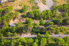Formentor cape. Road to Famous Cap de Formentor (Formentor cape) on spanish island Mallorca Stock Image