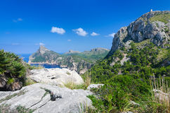 Formentor hills on Majorca Stock Photo