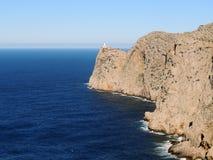 Formentor-Leuchtturm, Mallorca-Insel Stockbild